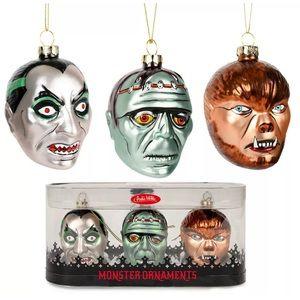 Classic Horror Monsters Ornaments Dracula Mummy +